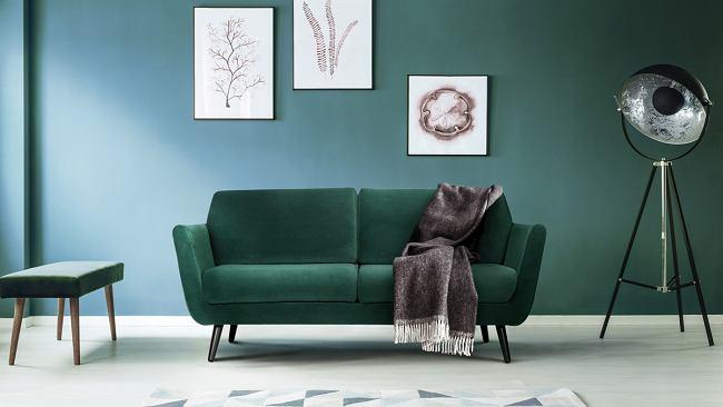 Zielona Sofa Aster w stylu skandynawskim to model, który nigdy nie wyjdzie z mody