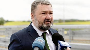 Karol Karski na otwarciu obwodnicowego węzła drogowego Olsztyn Pieczewo