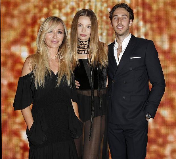 Gwiazdy na imprezie Magnum - Joanna Przetakiewicz z synem i Magdaleną Frąckowiak