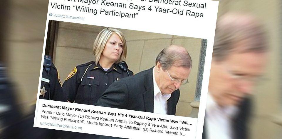 Amerykański polityk gwałcił kilkulatkę