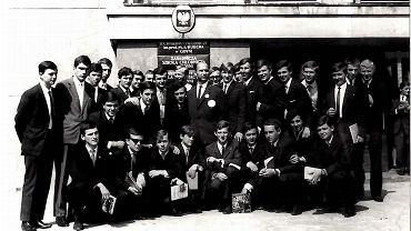 Technikum Chłodnicze w Gdyni, klasa V b po maturze, lata 60.
