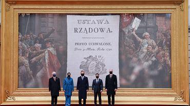 3 maja. Wspólna deklaracja prezydentów Polski, Estonii, Ukrainy, Łotwy i Litwy