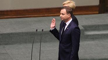6.08.2015, Sejm, uroczystość zaprzysiężenia Andrzeja Dudy na prezydenta