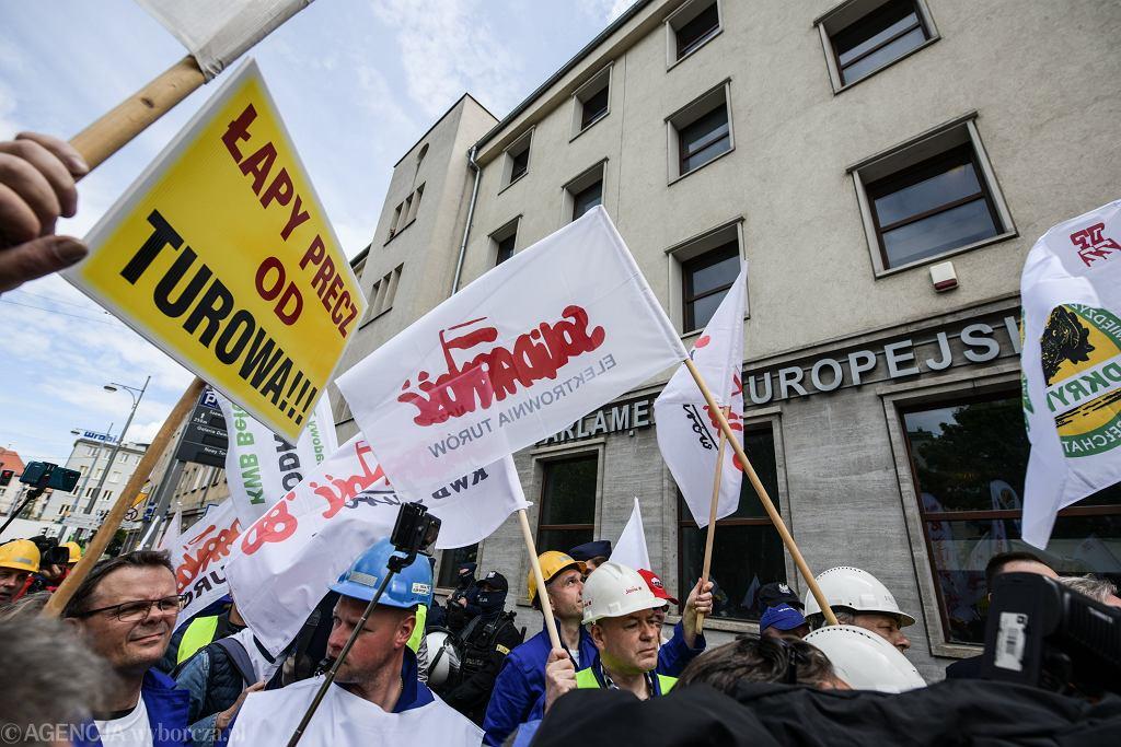 Protest górników (zdjęcie ilustracyjne)