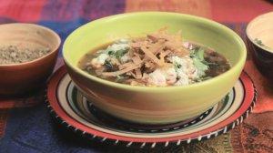 Meksykańska zupa z czarnej fasoli