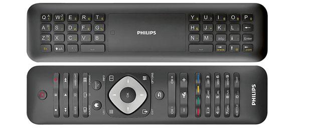 telewizory, Smart TV - telewizor w sieci, pilot Philips z klawiaturą QWERTY
