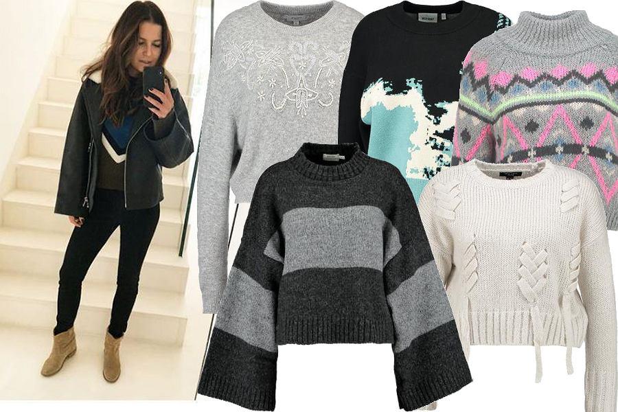 Kolaż, zdobione krótkie swetry/Materiały partnera