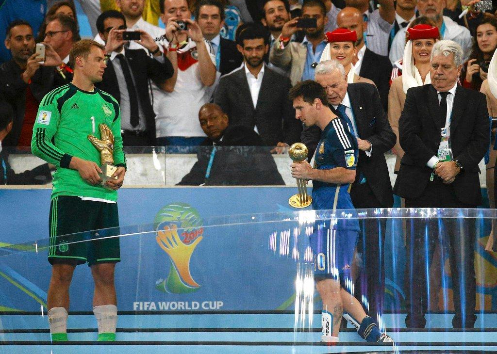Manuel Neuer i Lionel Messi, wybrany najlepszym piłkarzem mistrzostw