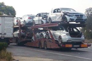 Flota nowych BMW M3 na szrot