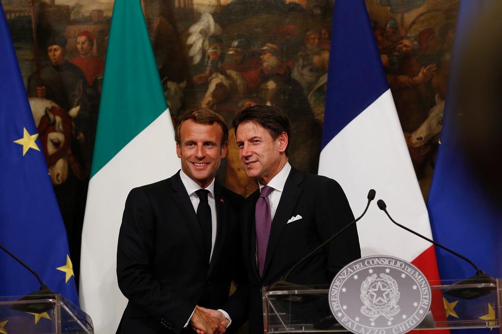 Prezydent Francji Emmanuel Macron i premier Włoch Giuseppe Conte spotkali się w Rzymie. Rozmawiali m.in. o problemie migracji