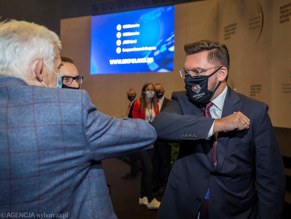 Prezydent Katowic Marcin Krupa (z prawej)