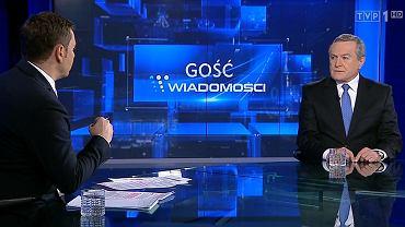 """Minister Gliński w studio """"Wiadomości"""""""
