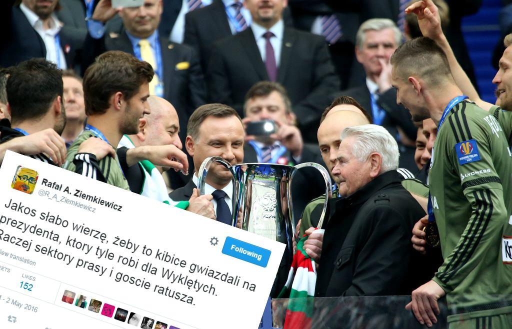 Rafał Ziemkiewicz twierdzi, że to nie kibice wygwizdali na meczu prezydenta