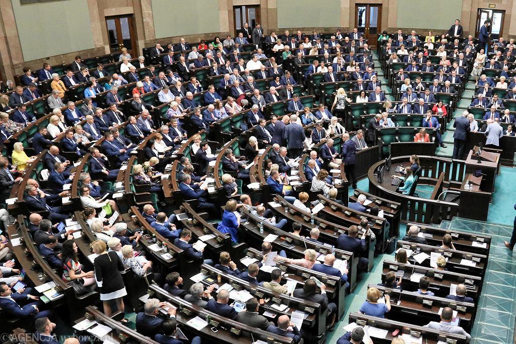 Obrady Sejmu. Zdjęcie ilustracyjne