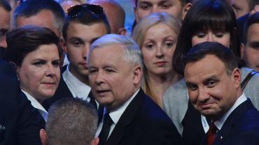 Beata Szydło, Andrzej Duda, Jarosław Kaczyński