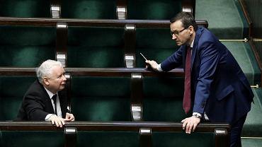 Jarosław Kaczyński i premier Mateusz Morawiecki