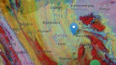 Przemieszczanie pyłu na zdjęciach satelitarnych