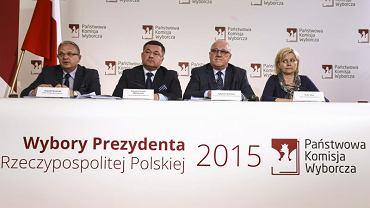 Konferencja prasowa Państwowej Komisji Wyborczej