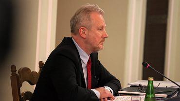 Były wiceszef KNF Wojciech Kwaśniak podczas posiedzenia Sejmowej Komisji Śledczej do zbadania afery Amber Gold.