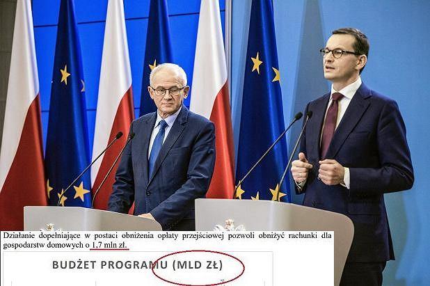 Premier Mateusz Morawiecki i minister energii Krzysztof Tchórzewski ogłaszają zmiany w akcyzie na prąd.