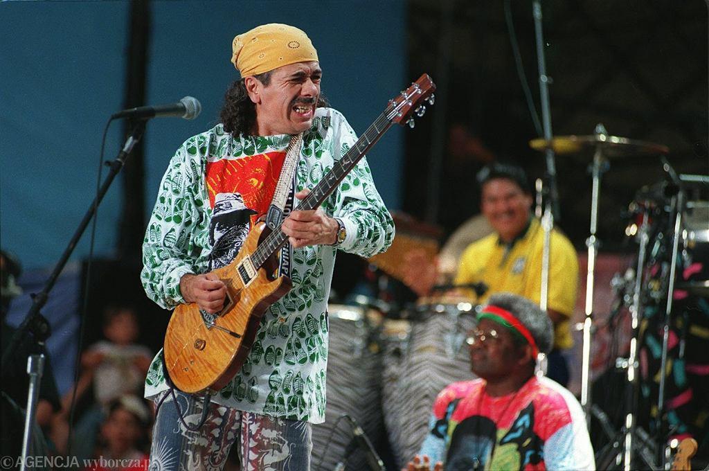 Carlos Santana na koncercie Woodstock w 1994 roku (zdjęcie ilustracyjne)