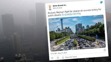 Z Pekinu zniknął smog