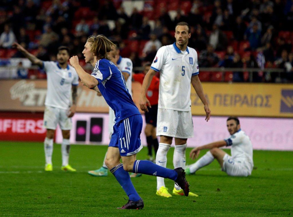 Grecja - Wyspy Owcze 0:1. Joan Edmundsson