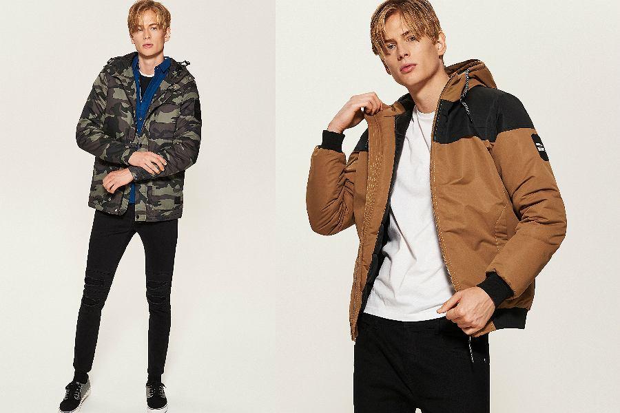 zimowe kurtki męskie z wyprzedaży
