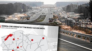 GDDKiA chce oddać w tym roku blisko 450 km dróg. Gdzie jeszcze trwają prace?