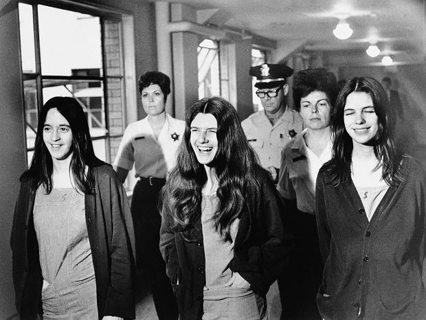 Grupa Charlesa Mansona, od lewej: Susan Atkins, Patricia Krenwinkel, Leslie van Houten