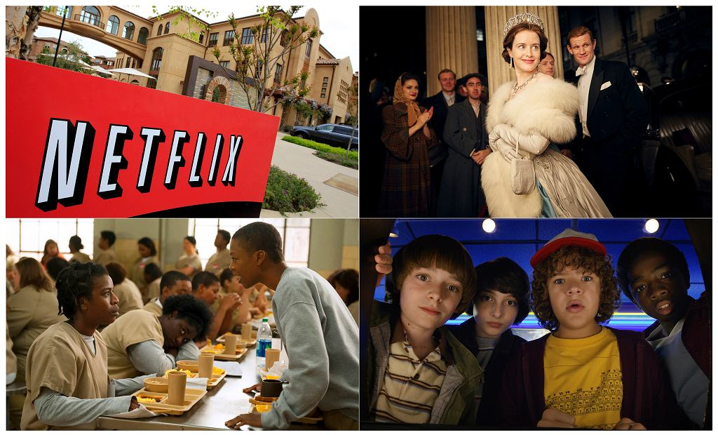 Netflix i jego produkcje: 'The Crown', 'Orange is the new black', 'Stranger Things'.