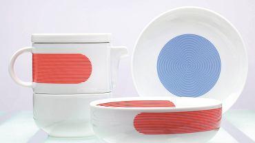 Szlachetna porcelana wyzwala się spod panowania grzecznych kolorów i wzorów. Nie występuje już też w kompletach. Projektanci Ćmielów Design Studio zachęcają do zestawiania na stole niebanalnie barwionych naczyń o zaskakujących formach.  <BR />WZORY - PROJEKTY. WZORY - PROJEKTY. Osobista zastawa, proj. Marek Cecuła. Zgodnie z ideą mix and match (czyli mieszaj i łącz) elementy kolekcji można kupować osobno, komponując własne zestawy śniadaniowe lub obiadowe. Wyróżnienie w plebiscycie must have na Łódź Design Festival. Kolekcja New Atelier, cena od 25 zł/szt., porcelana.com.pl