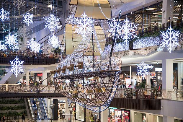 Święta w centrum handlowym w Gdańsku