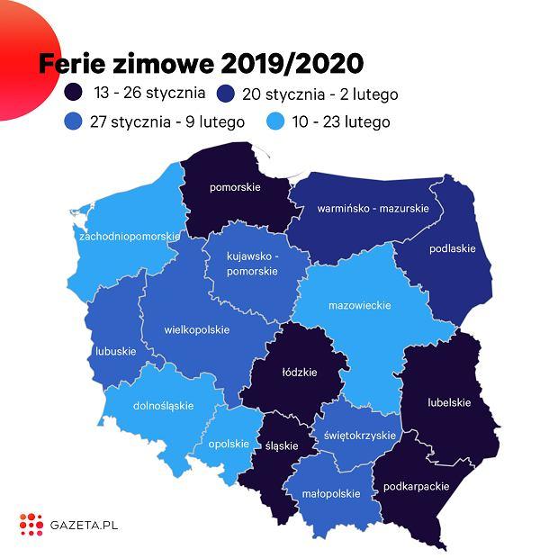 Ferie 2020. Kiedy wypadną ferie w poszczególnych województwach? (zdjęcie ilustracyjne)