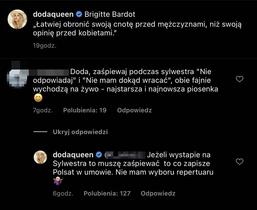 Doda zaśpiewa podczas Sylwestra w Polsacie?
