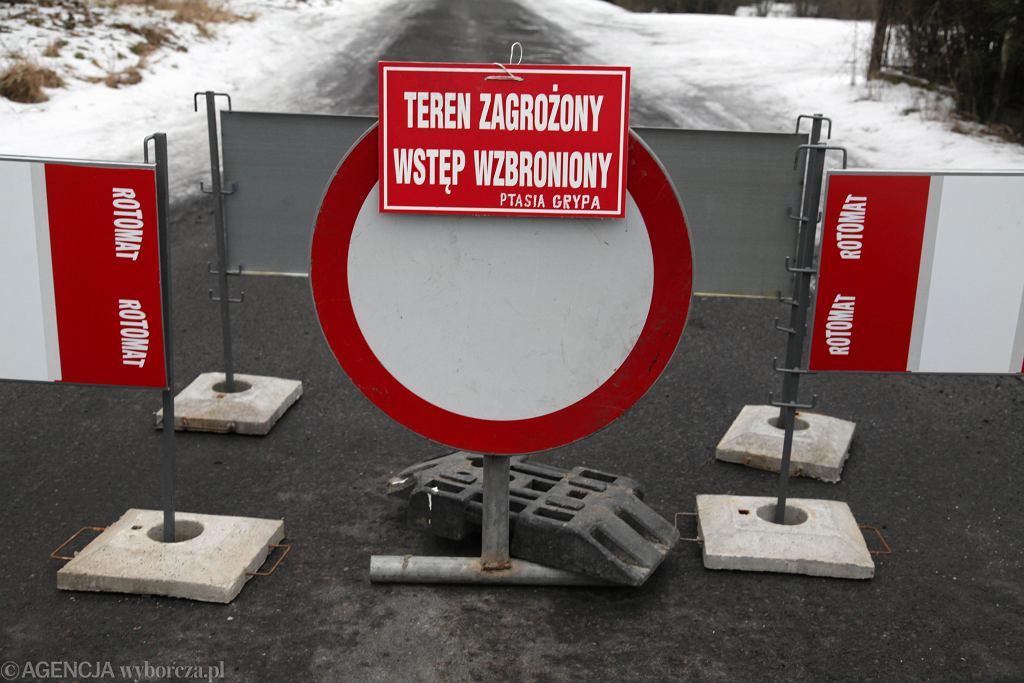 Droga zamknięta z powodu ptasiej grypy (zdjęcie archiwalne)