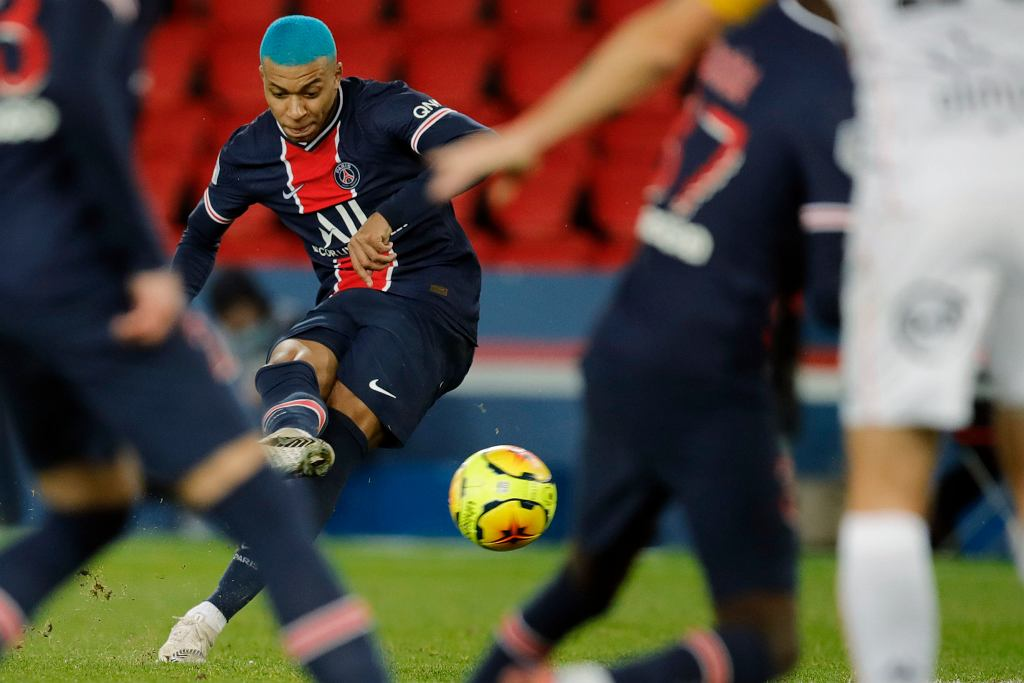 Kylian Mbappe; PSG 2:0 Lorient; grudzień 2020