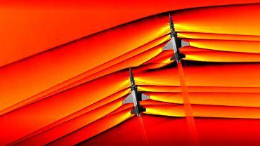 Fale w powietrzu wywołane przez samoloty lecące z prędkością naddźwiękową
