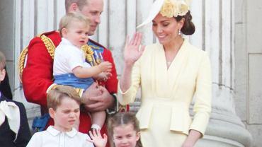 Książę William, księżna Kate, książę George, księżniczka Charlotte, książę Louis