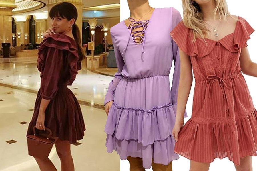 sukienka z falbanami / mat. partnera