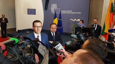 Premier Mateusz Morawiecki w Brukseli