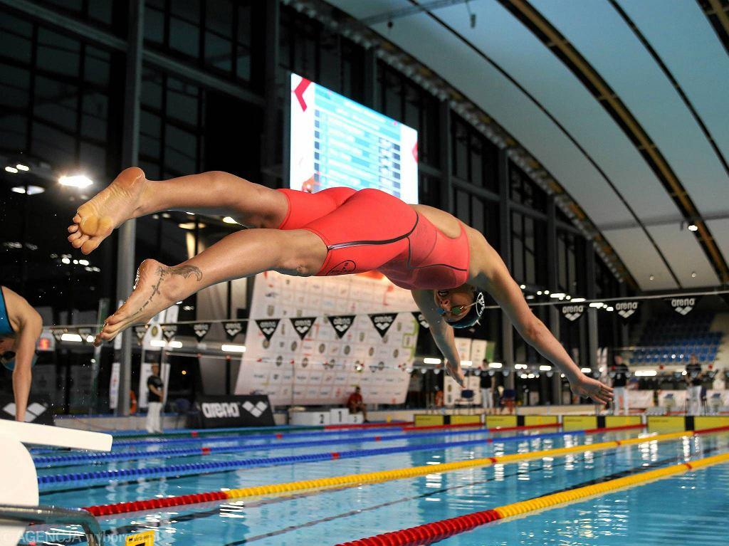 Aqua Lublin. Zimowe Mistrzostwa Polski w Pływaniu. Katarzyna Baranowska