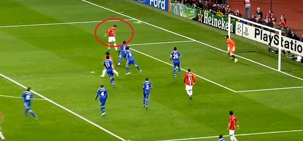 Gol Cristiano Ronaldo dla Manchesteru United w finale Ligi Mistrzów