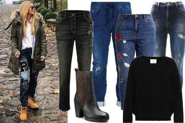fot. instagram/ małgorzata rozenek/ spodnie jeansy typu byfriend
