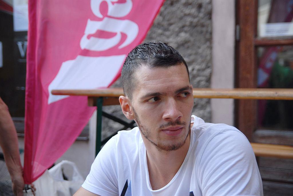 Aaron Cel na spotkaniu z dziennikarzami Gazety Wyborczej