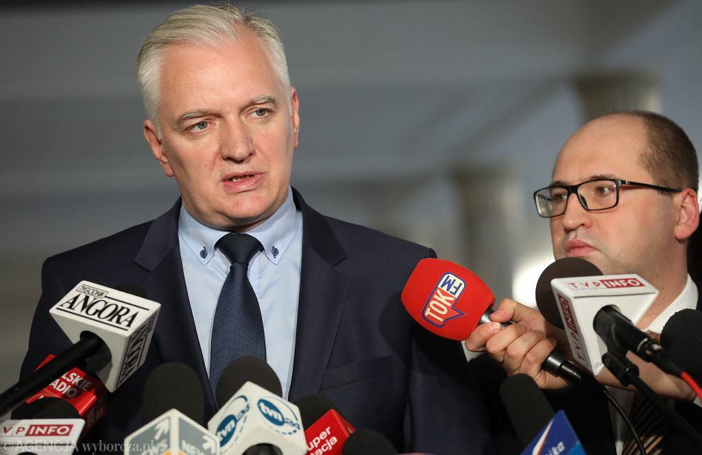 Jarosław Gowin i Adam Bielan w Sejmie