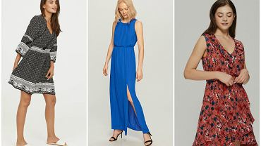 Sukienki z gumką świetnie sprawdzają się latem