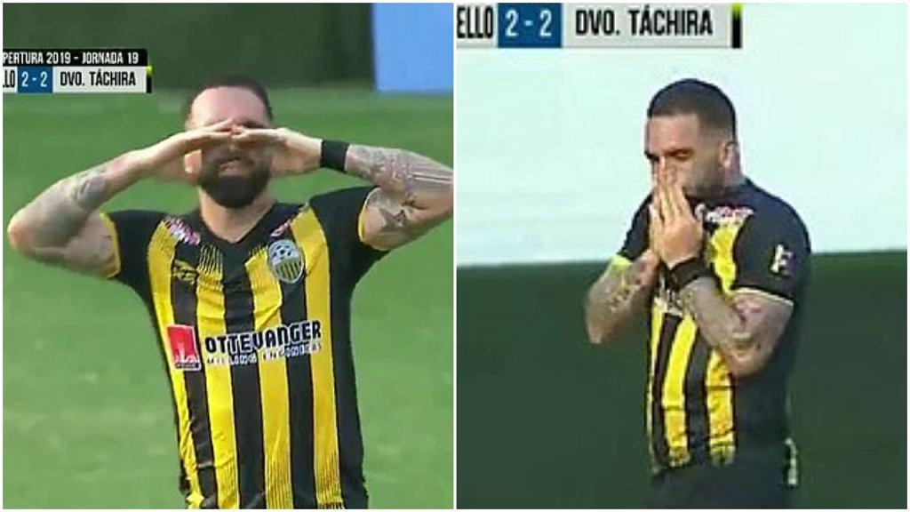 Giancarlo Maldonado płacze po strzeleniu gola
