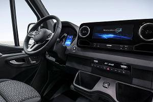 Nowy Mercedes Sprinter pokazuje nowoczesne wnętrze
