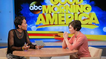 "Amanda Knox podczas programu ""Good Morning America"""